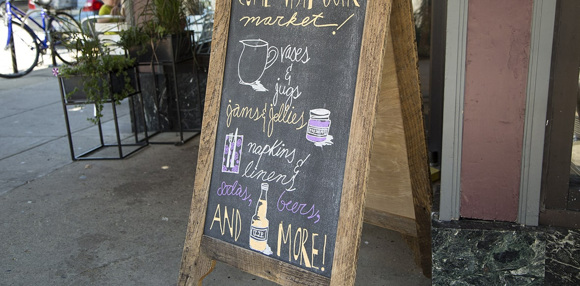 Blackberry Market Chalk Sign
