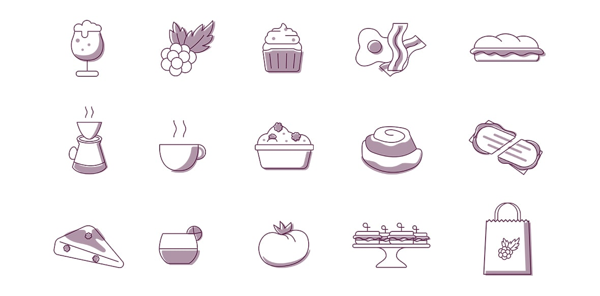 Blackberry Market Icon Set