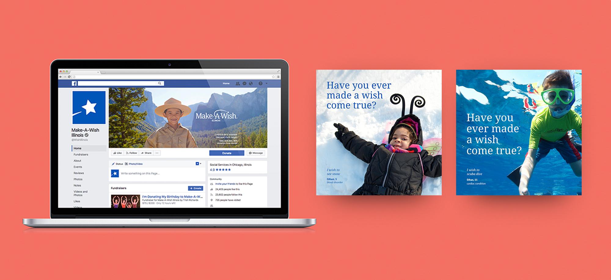 Make-a-Wish Website Design
