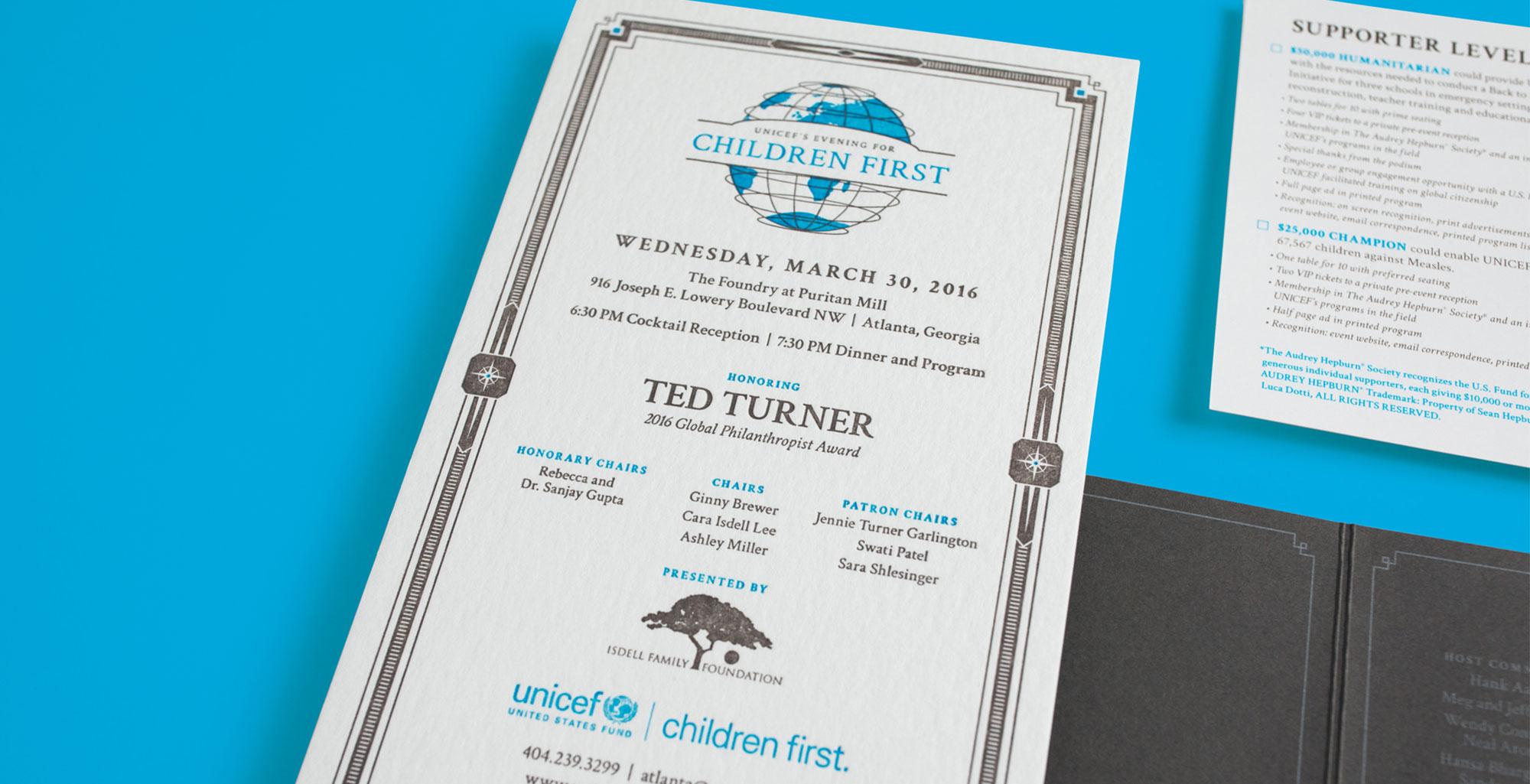 UNICEF Event Design