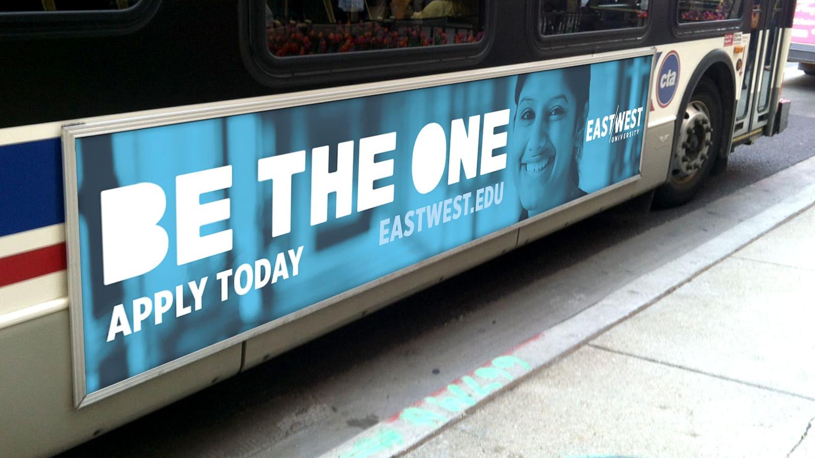 East West CTA Bus Ad Mockup
