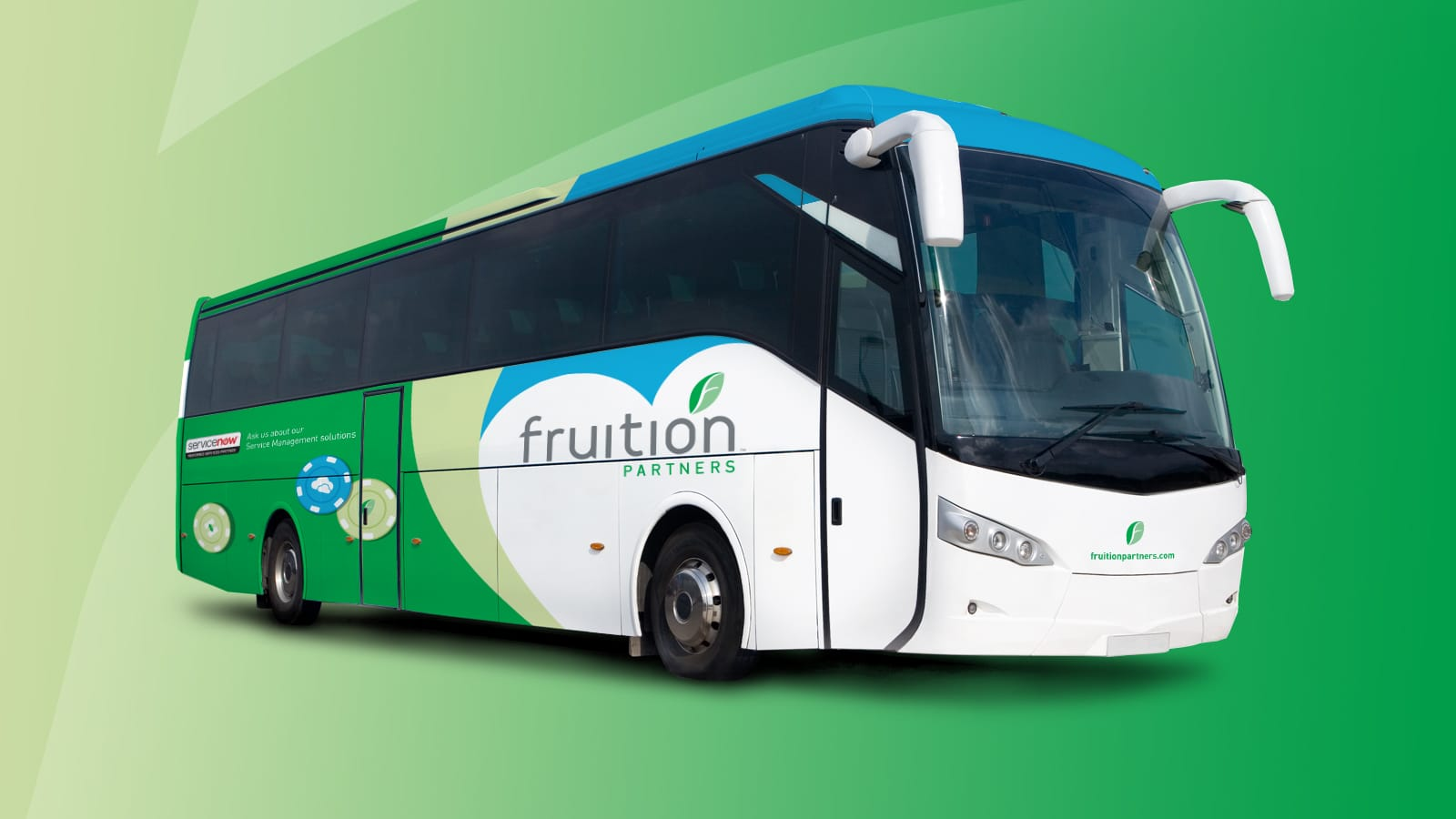 Fruition Partners graphics on full tour bus