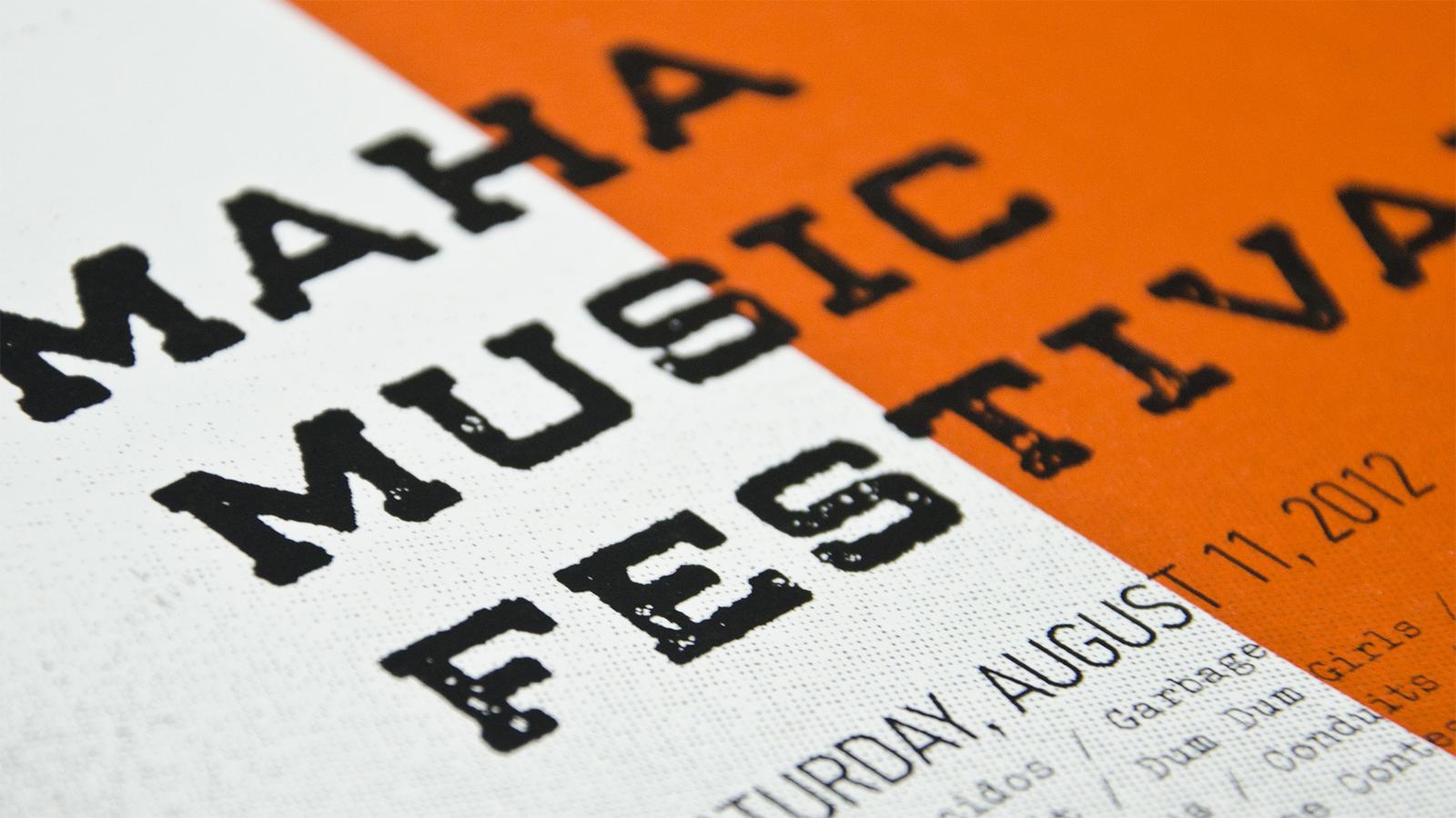 Maha Music Festival Poster